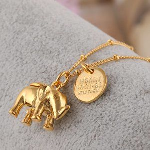 Henri Bendel Baby Elephant Pendant Long Necklace
